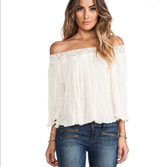 Jen's Pirate Booty Tops - Jen's pirate booty off shoulder top natural